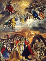 The Adoration of the Name of Jesus, by El Greco